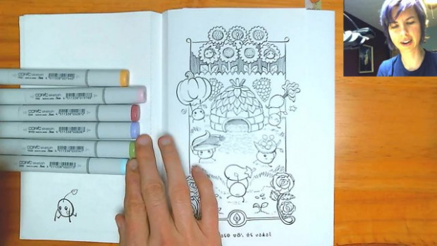 KeeFry - Junimo Coloring Book - Autumn Harvest page! - Twitch
