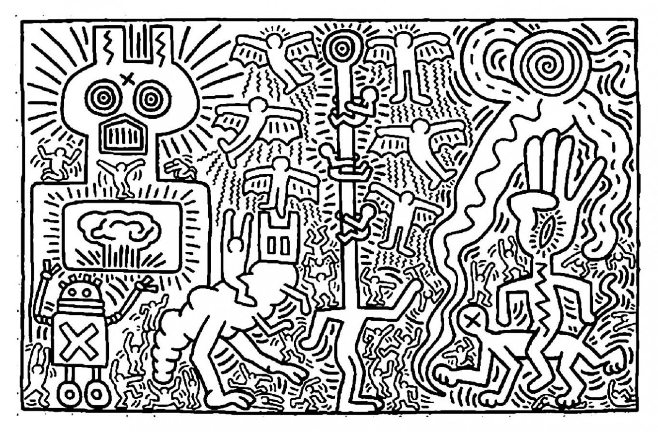 Keith Haring Coloring Book 15 | Ethicstech mit Keith Haring ...