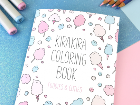 KiraKira Coloring Book – Foodies  – kira kira coloring book