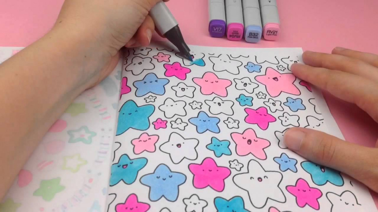 KiraKira Coloring Book - Star Doodle - YouTube - kira kira coloring book
