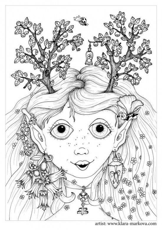 Klara Markova - Free | LEGAL Digi Images | Coloring books, Coloring ...