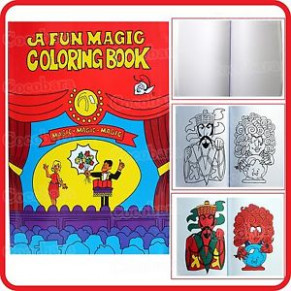 LARGE FUN MAGIC COLORING COLOURING BLOW BOOK-PICTURES APPEAR ...