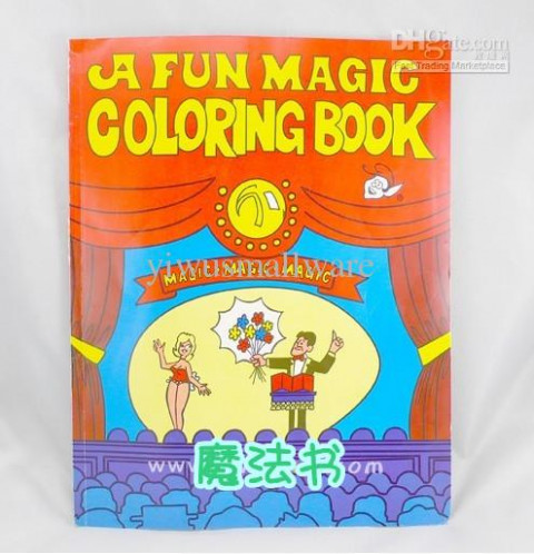 Large Size A Fun Magic Coloring Book/Magic Props /Magic Tricks/Magic ..