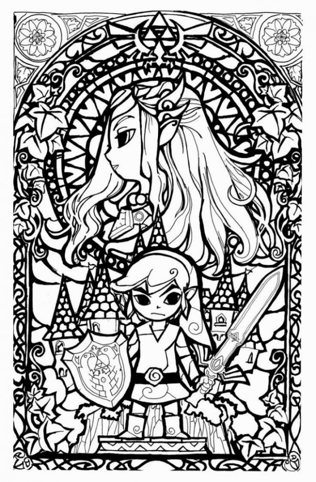 Legend Of Zelda Coloring Book | Coloring Pages | Pinterest ..