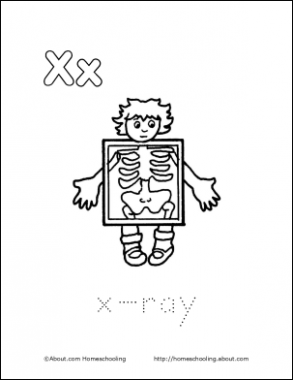 Letter X Coloring Book - Free Printable Pages | LETTER X | Coloring ...