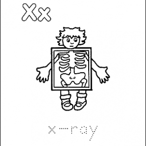 Letter X Coloring Book - Free Printable Pages