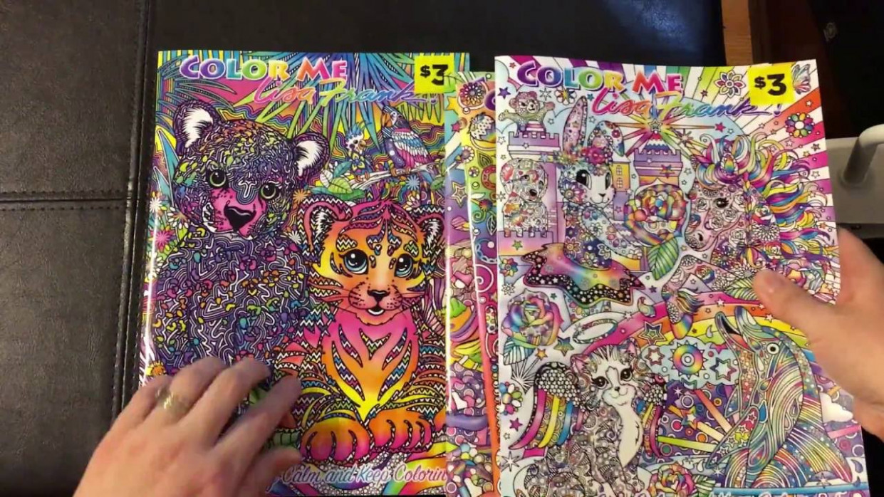 Lisa Frank Adult Coloring Book Color Me Flip Through Review - YouTube - lisa frank coloring book