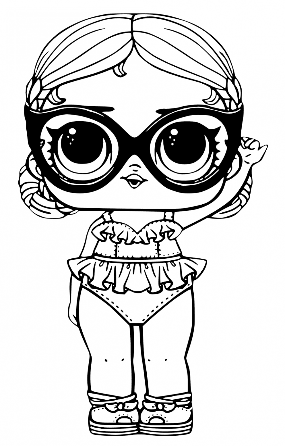 LOL Surprise Doll Coloring Pages Vacay Babay | lol dolls | Pinterest ..