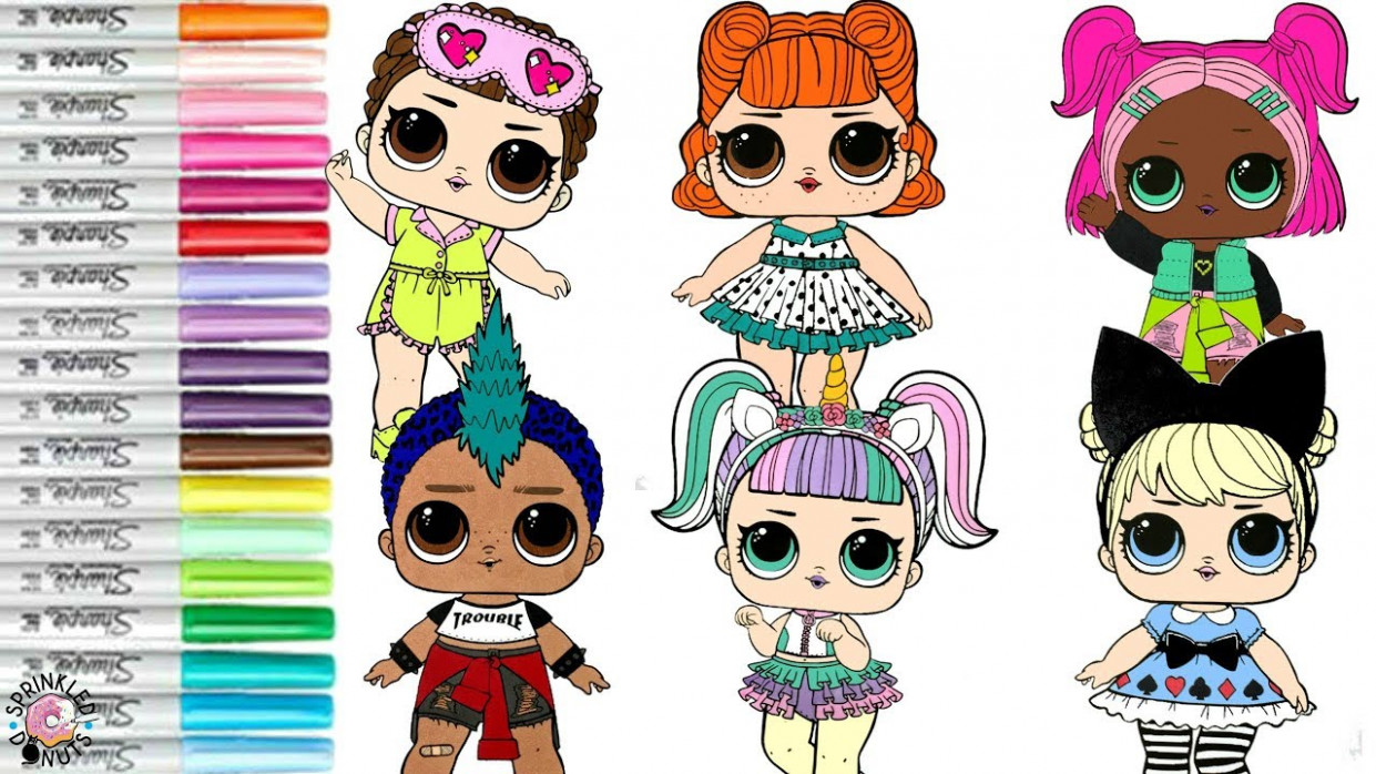 LOL Surprise Dolls Coloring Book Compilation Punk Boi Jitterbug ...