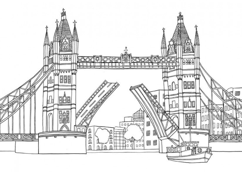 LONDON COLOURING BOOK – Emma Farrarons / Illustration  – london coloring book