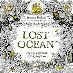 Lost Ocean: An Inky Adventure and Coloring Book for Adults: Amazon ..