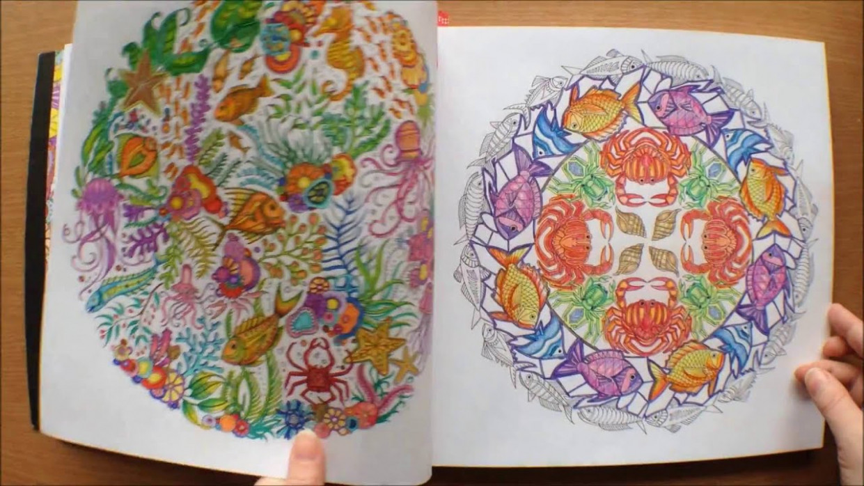 Lost Ocean by Johanna Basford Colouring Book Flipthrough with ...