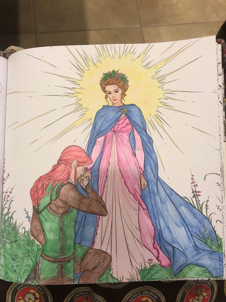 "Lucien bowing to Feyre in ""A Court Of Thorns And Roses"" Coloring .."