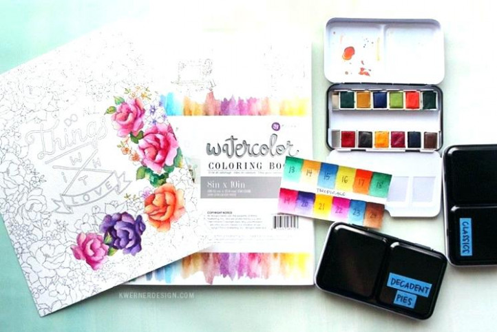 Luxury Watercolor Coloring Book Amazing Watercolor Coloring Books ..