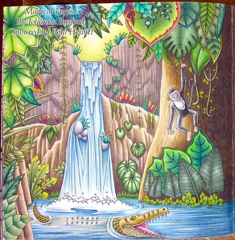 Magical Jungle. First Double Page Spread