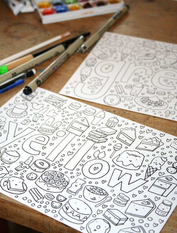 Make Your Own Coloring Book: FREE Tutorial – how to make a coloring book