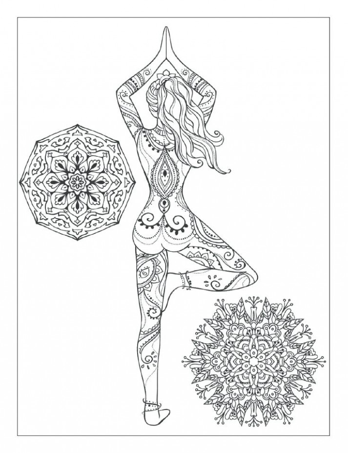 Mandala Meditation Coloring Pages Yoga And Book For Adults With ...