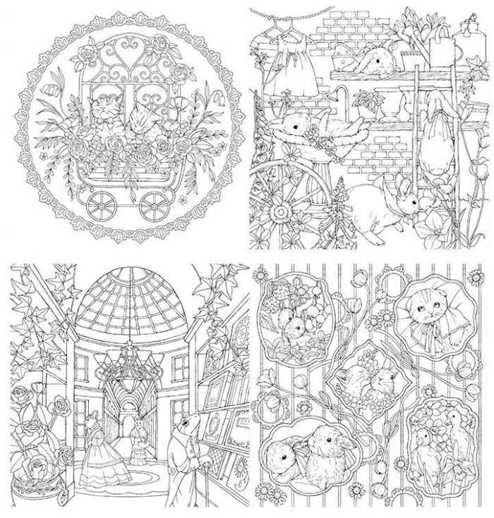 Menuet de Bonheur Coloring Book Flip Through Happiness of Minuet ...