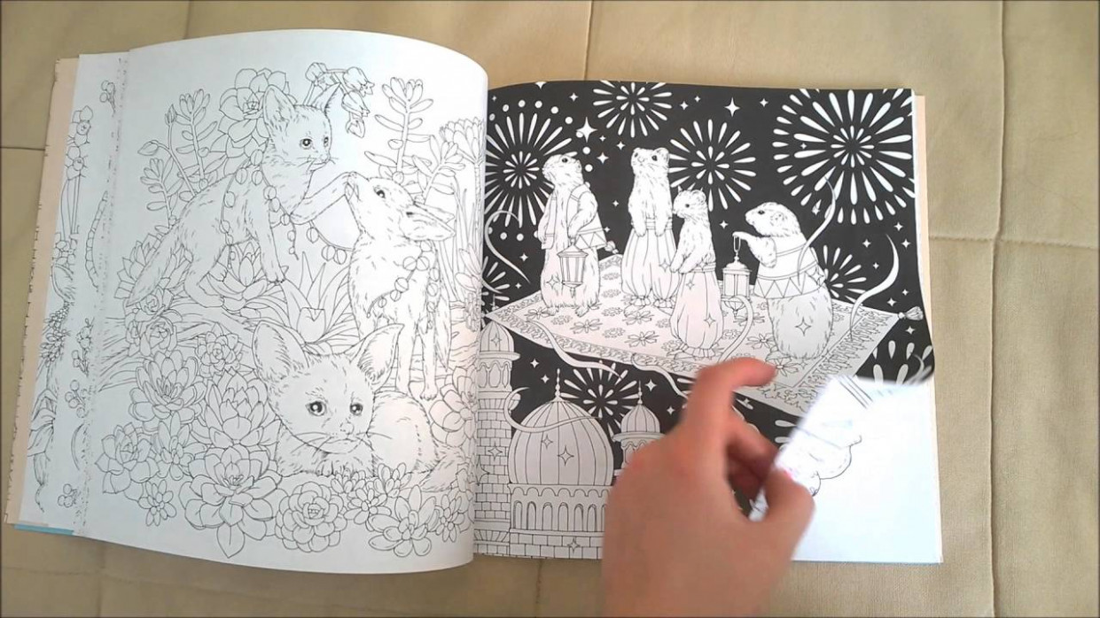 Menuet de Bonheur Coloring Book Flip Through - YouTube