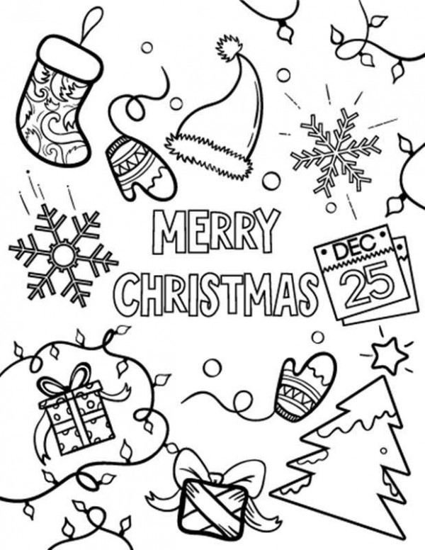 Merry Xmas Coloring Pages - 19 Open Coloring Pages