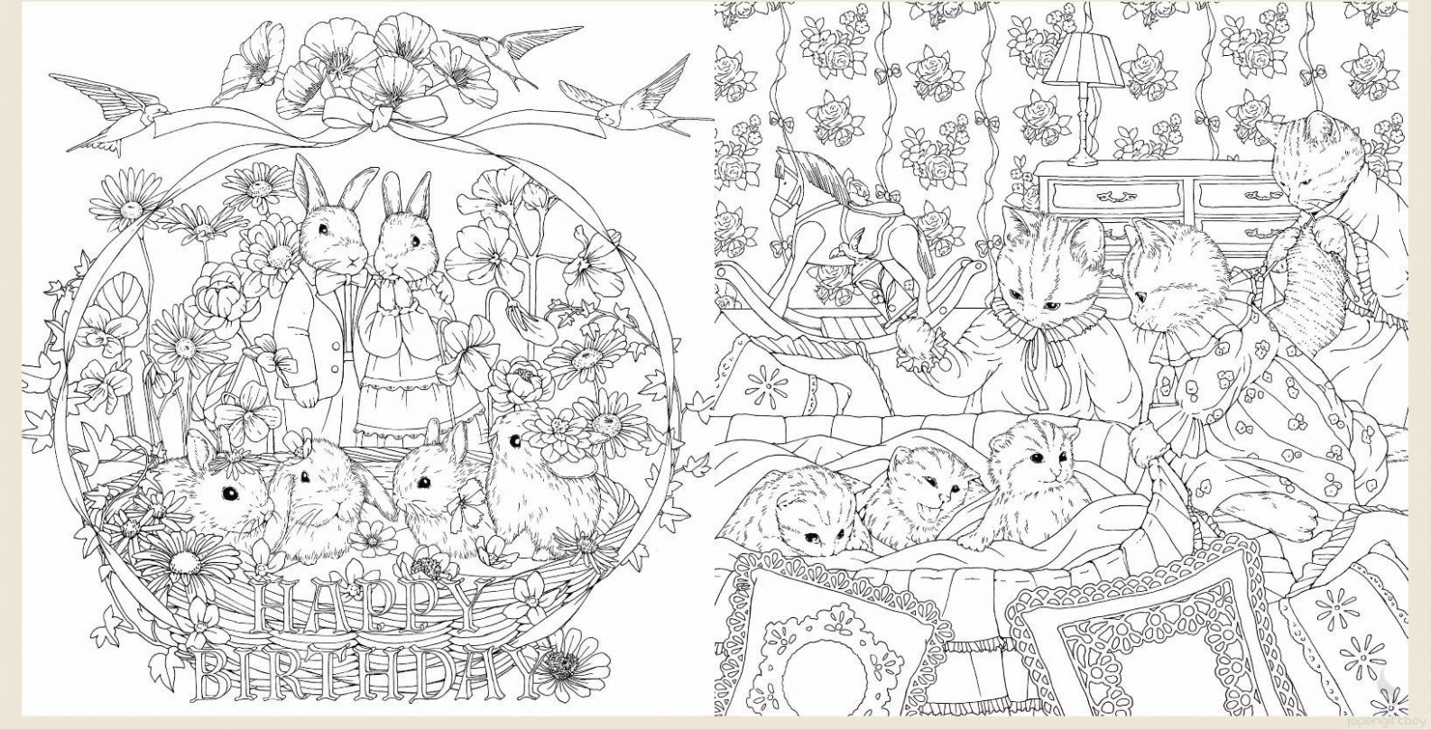 Minuet from Hapiness Coloring Book - Menuet De Bonheur | color ...