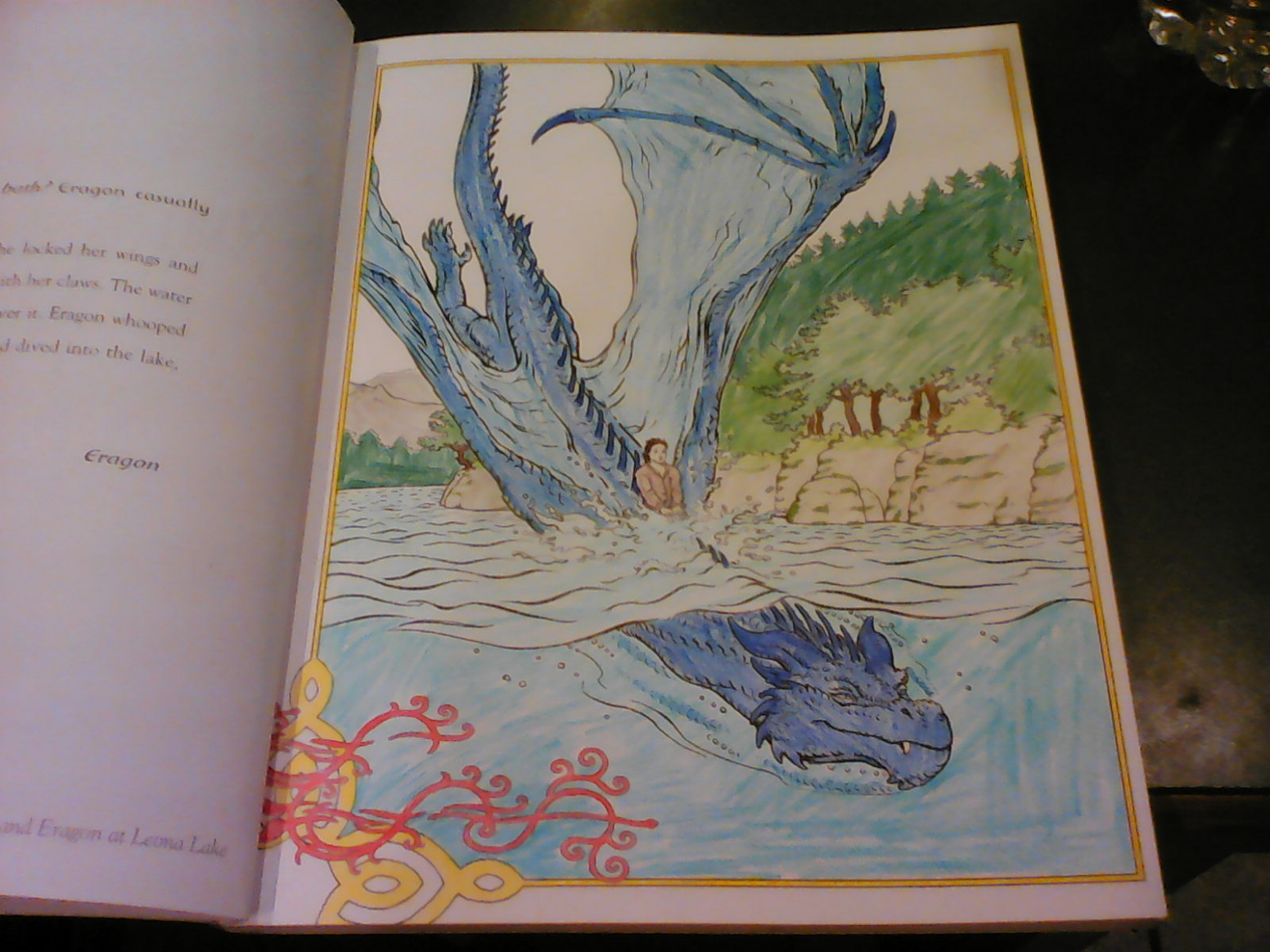 My drawing of Saphira  - eragon coloring book