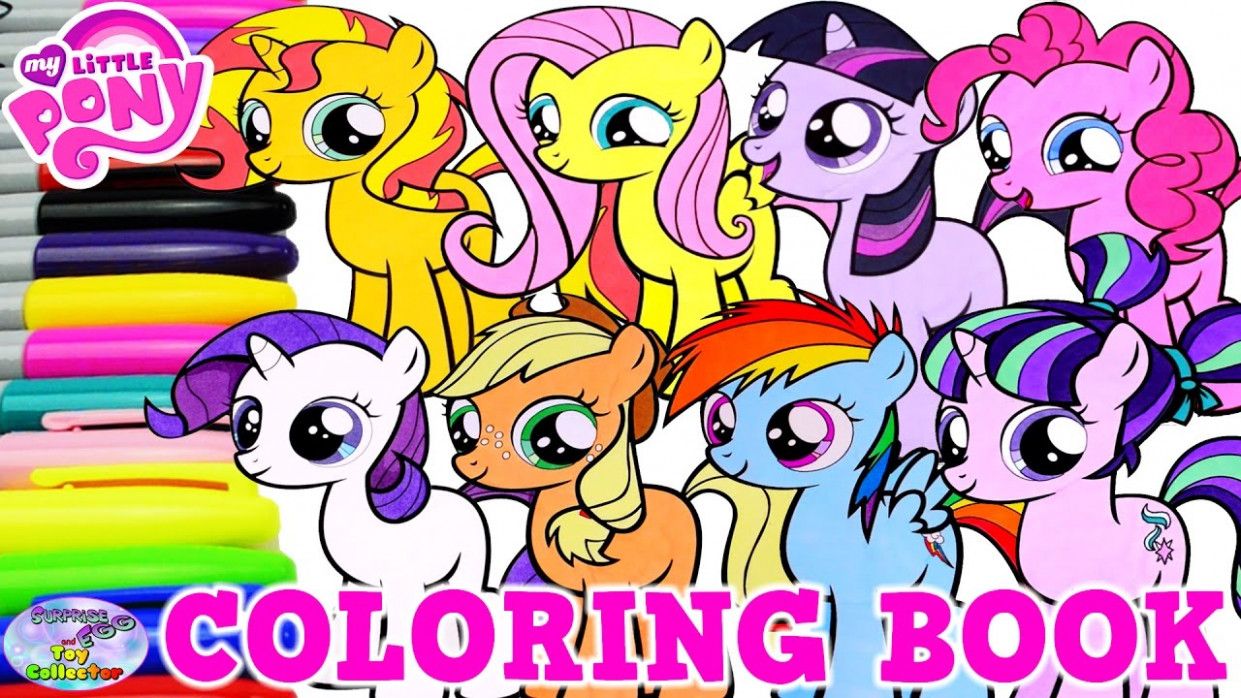 My Little Pony Coloring Book Mane 15 Filly Compilation MLP Surprise ..