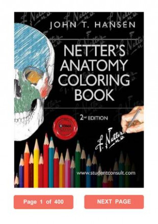 Netter's Anatomy Coloring Book John T. Hansen PhD PDF with Student ..
