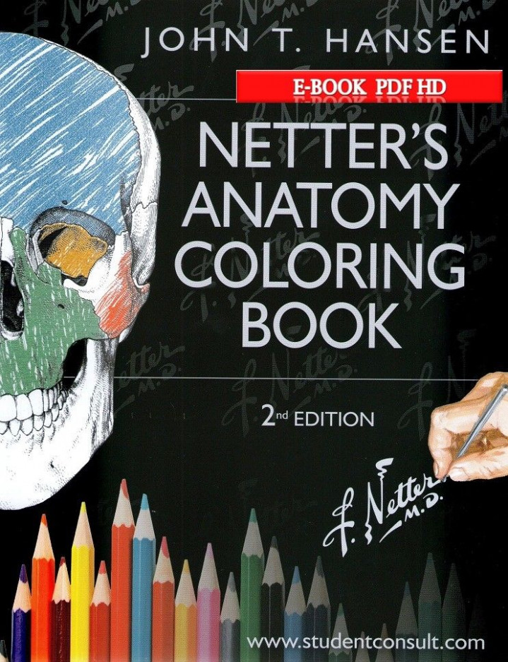 Netter's Anatomy Coloring Second edition With Student Consult (Book ...