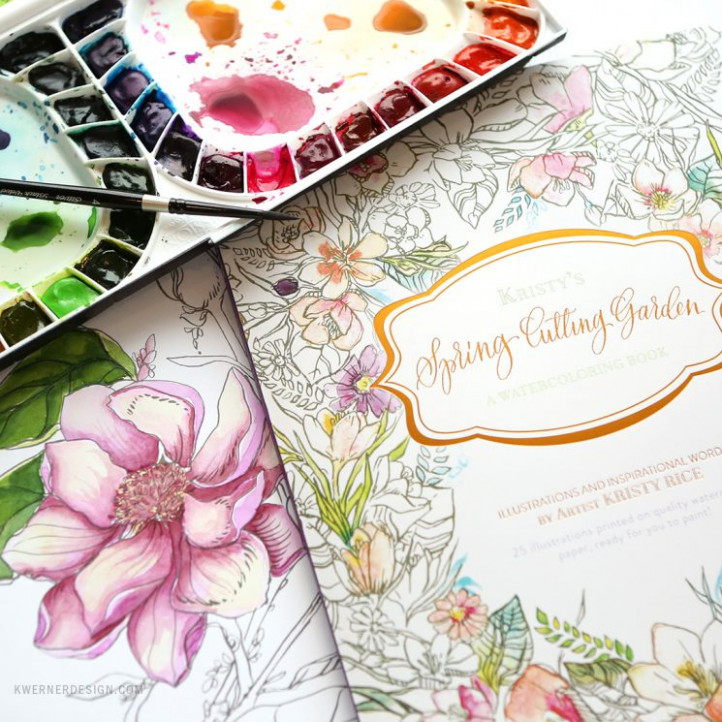 NEW Painterly Days Watercolor Coloring Book GIVEAWAY ..