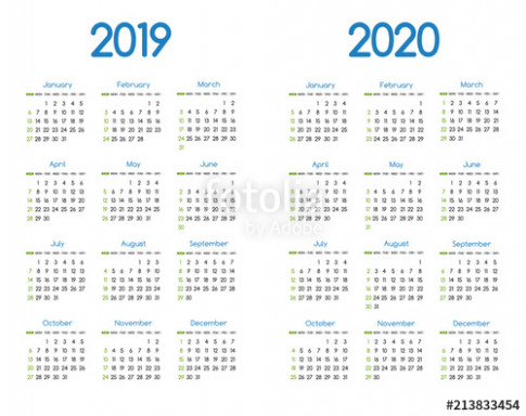 New year 14 and 14 vector calendar modern simple design with ...