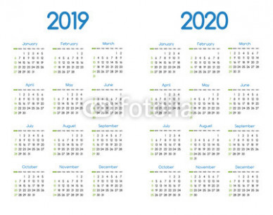 New year 20 and 20 vector calendar modern simple design with ..