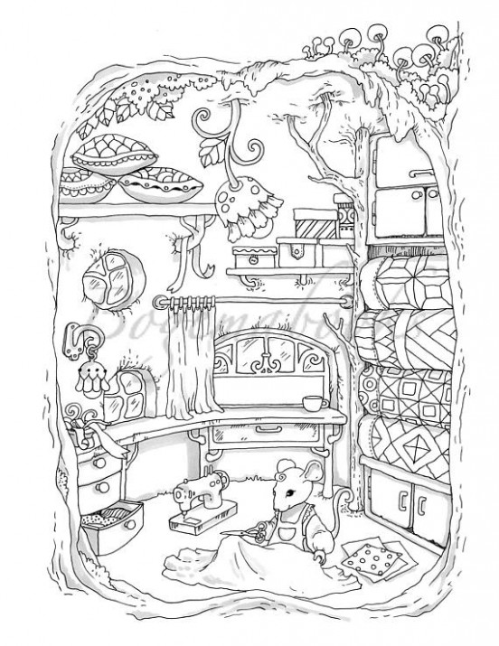 Nice Little Town 20 Adult Coloring Book Coloring pages PDF | ZEICHNEN ..
