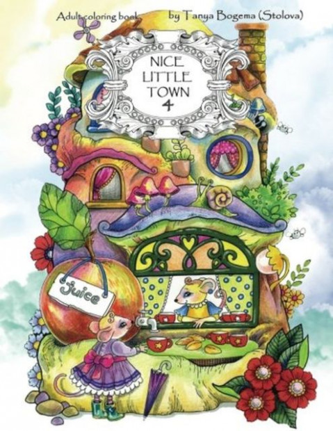 Nice Little Town: Nice Little Town : Adult Coloring Book (Stress ..