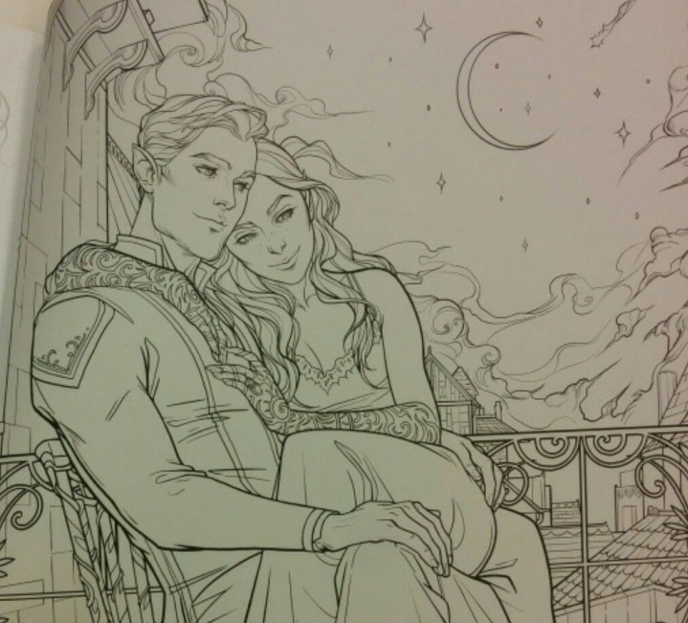Official pictures from A Court of Thorns And Roses Coloring Book ..