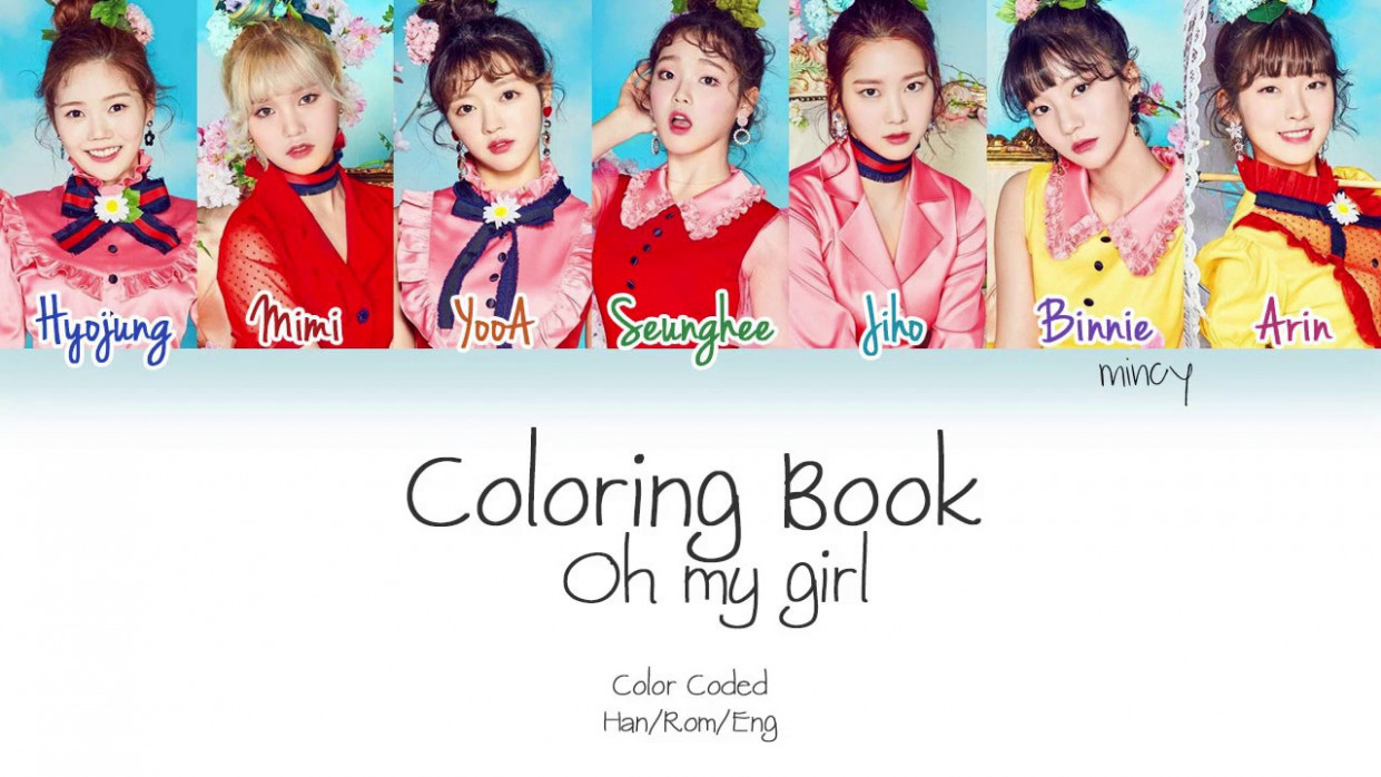 Oh My Girl (오마이걸) - Coloring Book (컬러링북) (Color Coded Han ...