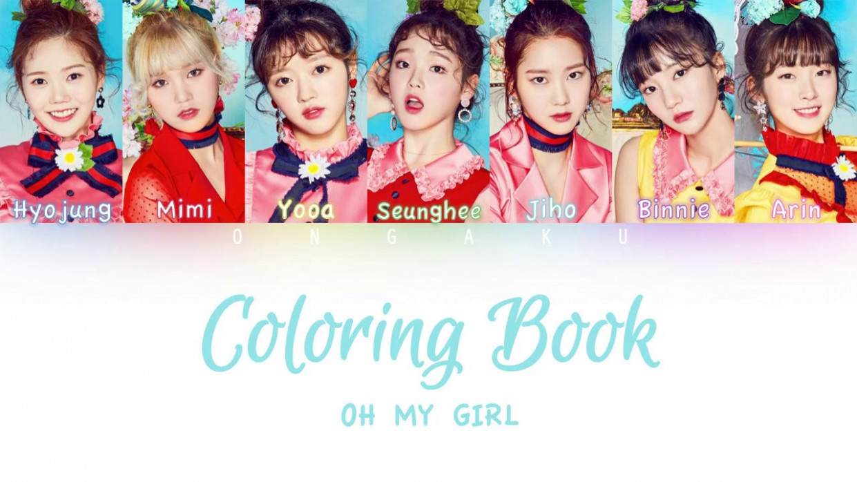 OH MY GIRL - Coloring Book (컬러링북)   Color Coded HAN/ROM/ENG ...