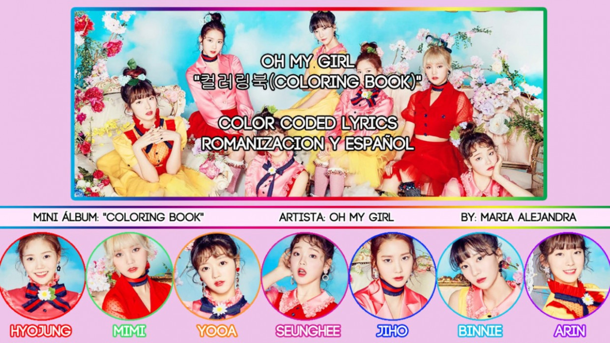 """OH MY GIRL (오마이걸) """"컬러링북 (Coloring Book)"""" [COLOR CODED] [ROM ..."""