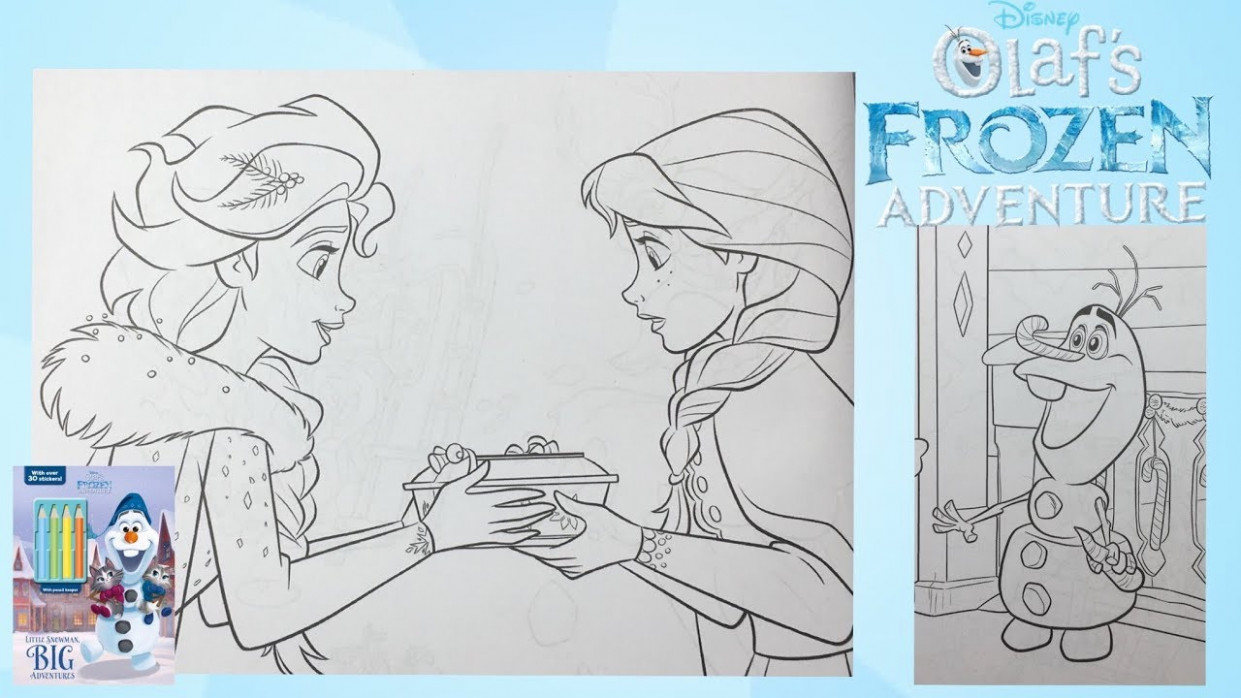 Olaf's Frozen Adventure Coloring Book Disney Elsa and Anna for kids ...