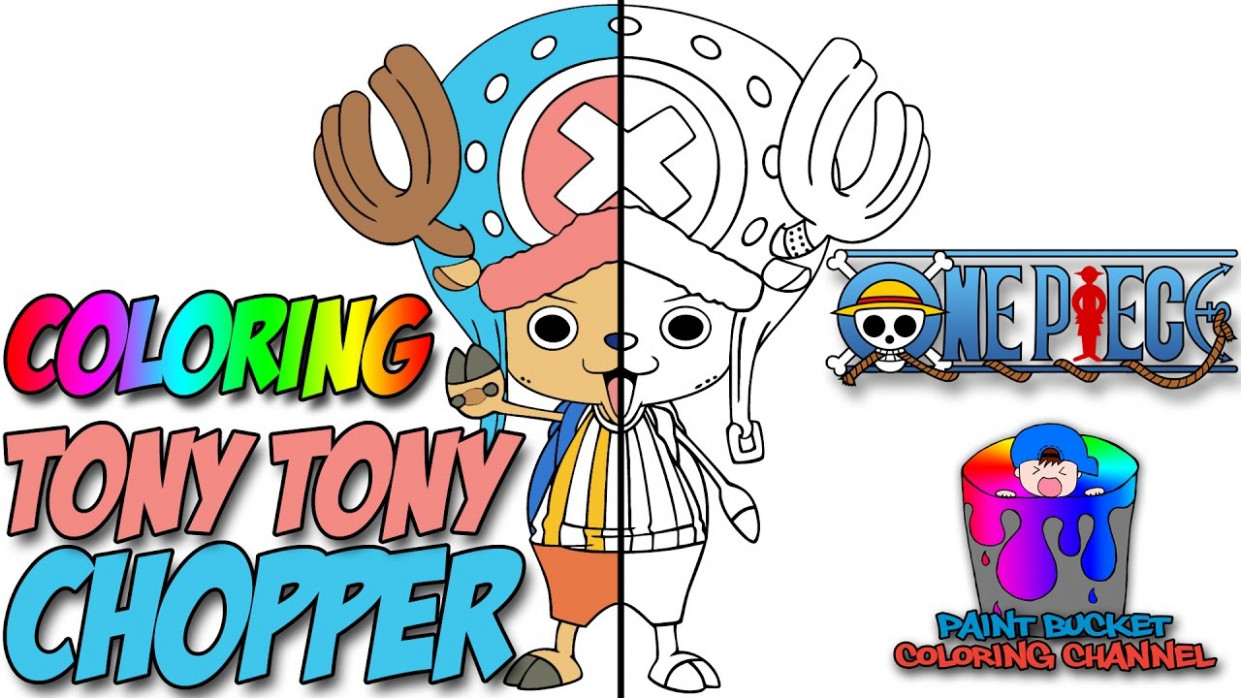 One Piece Chopper Speedpaint - One Piece Anime Speed Coloring - YouTube - one piece coloring book