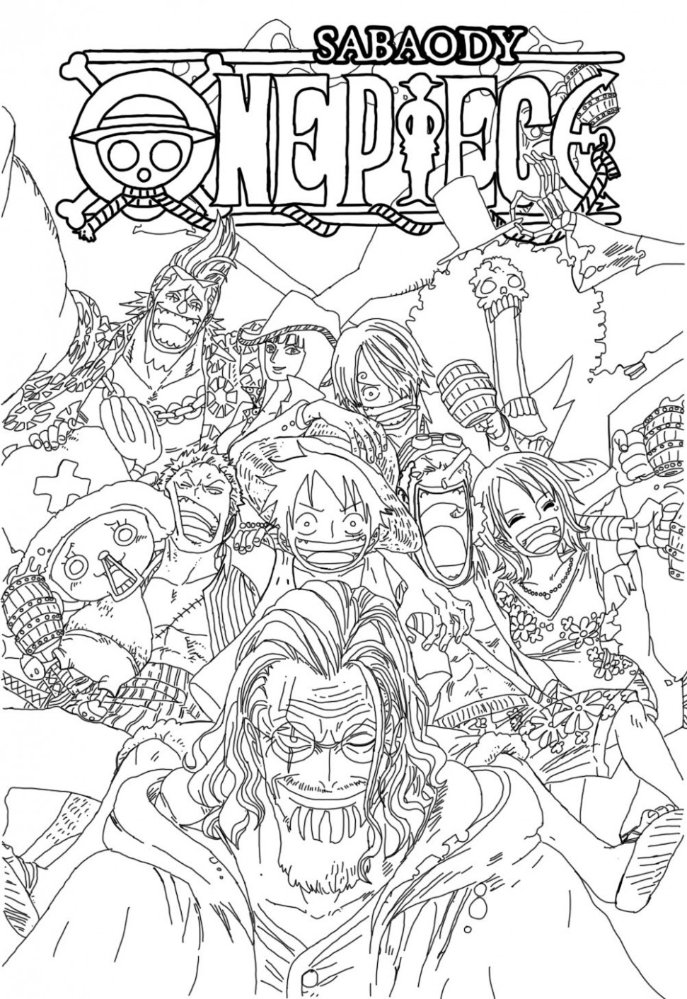 One Piece v144 line art by sasori14kankuro14 | LineArt: One Piece ..