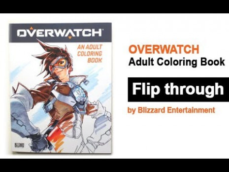 Overwatch Adult Coloring Book Flip Through - Tracer - YouTube