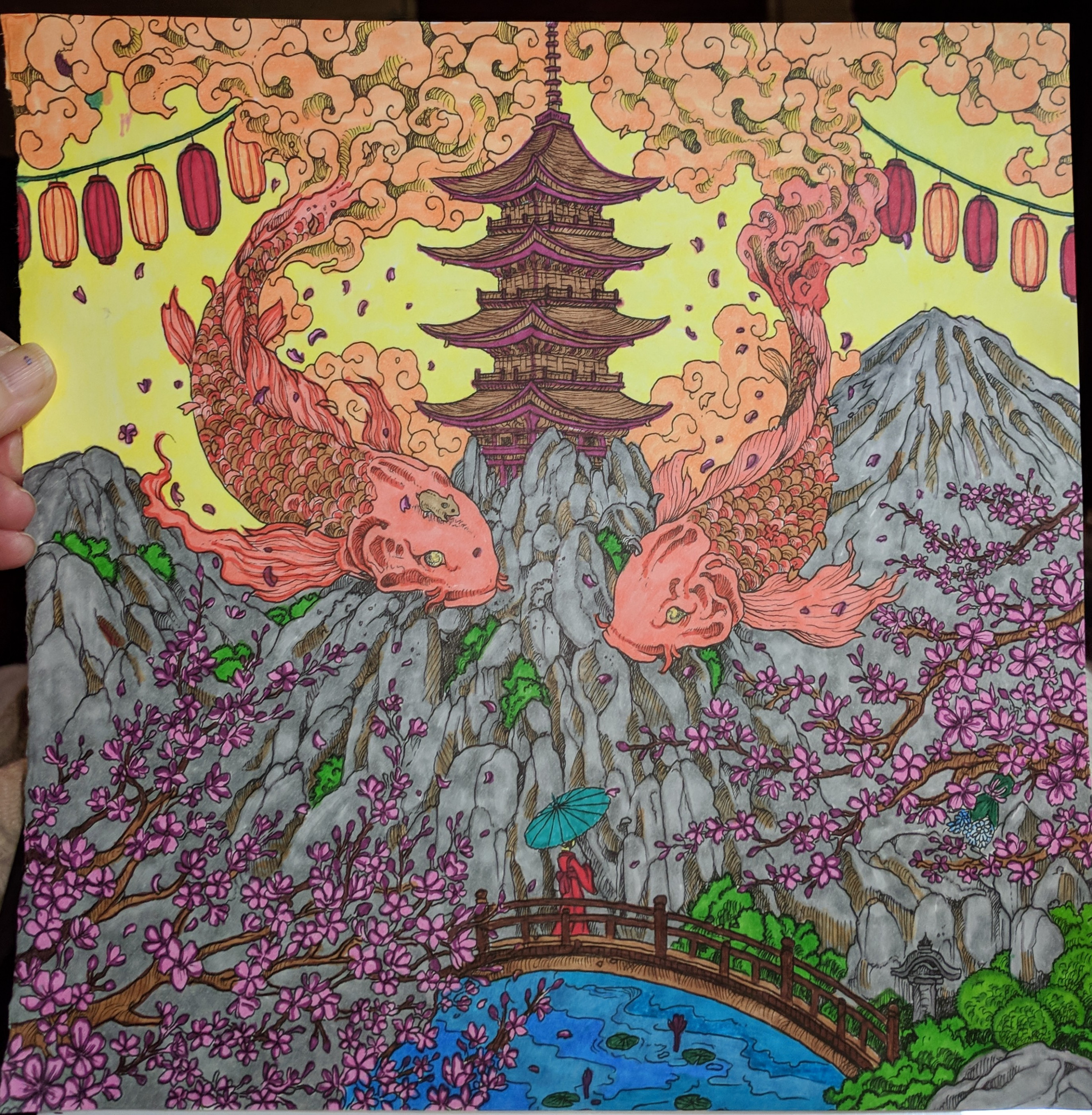 Page from geomorphia coloring book