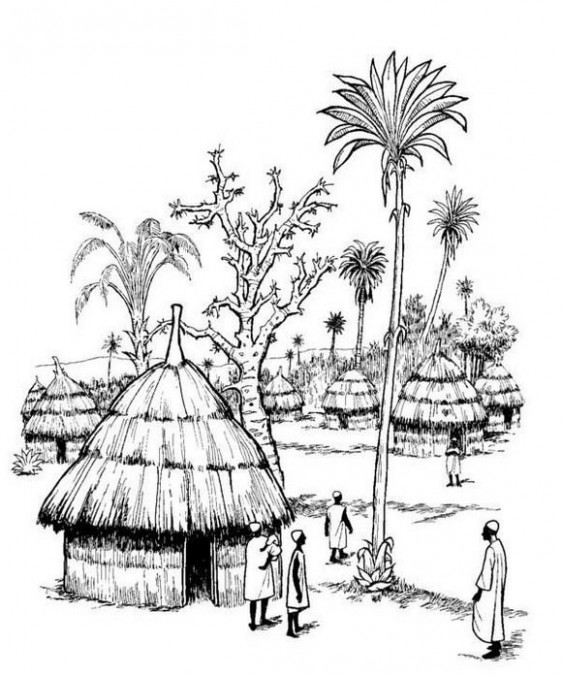 Part of our Africa virtual coloring book, print-it-yourself, by ..