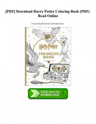 pdf] download harry potter coloring book (pdf) read online by ...