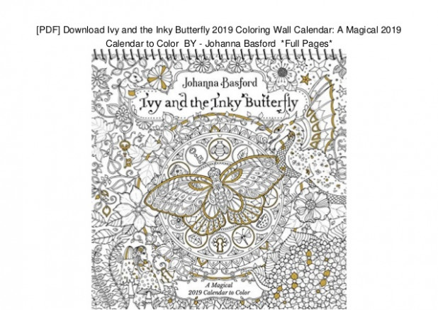 PDF] Download Ivy and the Inky Butterfly 12 Coloring Wall Calendar… – 2019 Coloring Wall Calendar