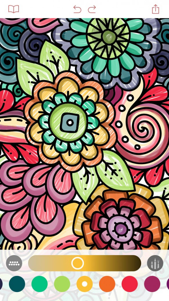 Pigment is an iOS coloring book for grown ups – app coloring book