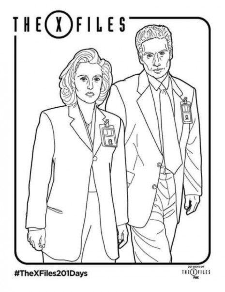 Pin by Ernesto Grazianni on Mulder  – x files coloring book