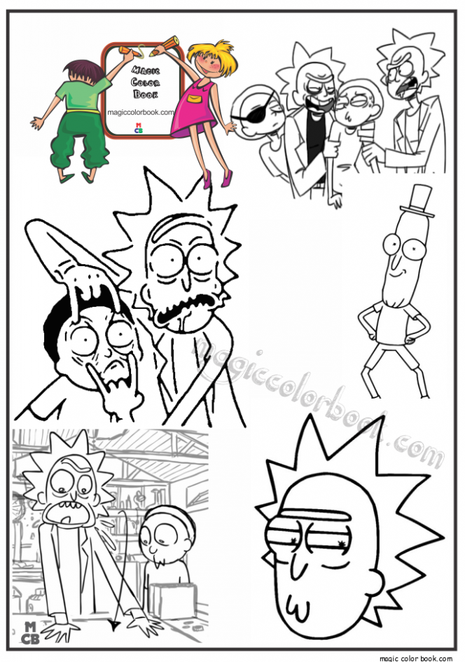 Pin by Magic Color Book on Rick and Morty Coloring pages free ..
