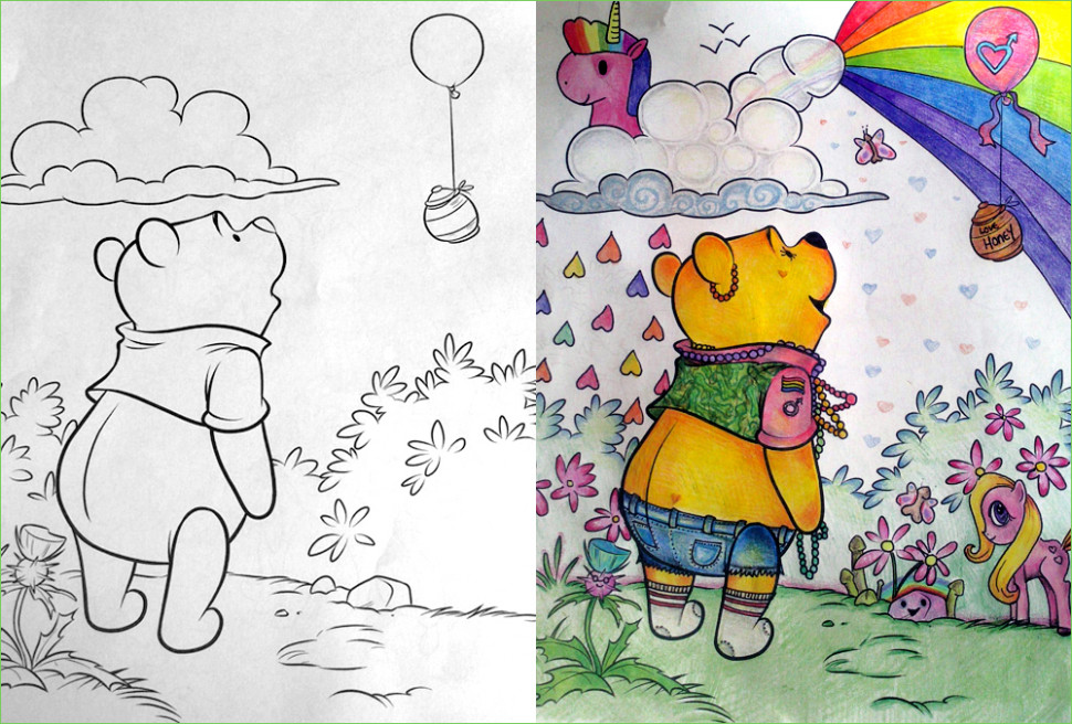 Pooh Goes to A Music Festival | Children's Coloring Book Parodies ...